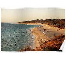 Just before sunset at Lagoon beach Poster