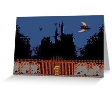 Castlevania - Dracula's Castle Greeting Card
