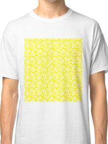 Yellow Vintage Wallpaper Style Flower Patterns Classic T-Shirt