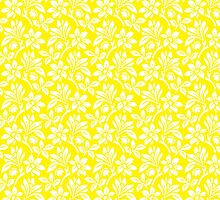 Yellow Vintage Wallpaper Style Flower Patterns by ImageNugget