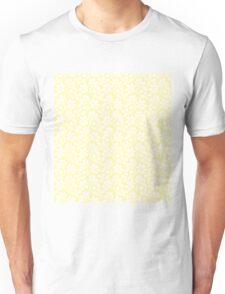 Cream Vintage Wallpaper Style Flower Patterns Unisex T-Shirt