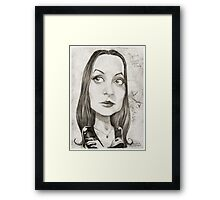 'Morticia' gourmet caricature by Sheik Framed Print