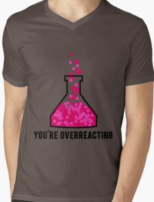 You're Overreacting Chemistry Science Beaker Mens V-Neck T-Shirt