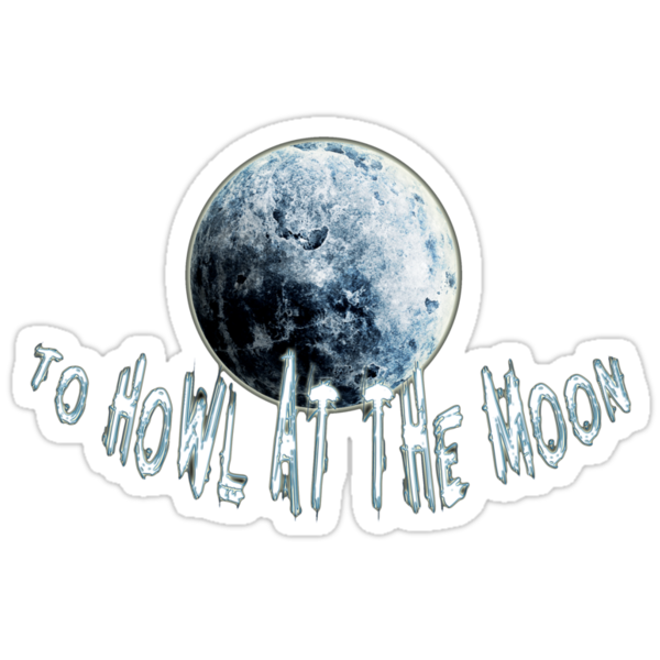 to howl at the moon - sticker by vampvamp