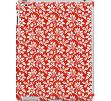 Red Vintage Wallpaper Style Flower Patterns iPad Case/Skin