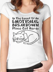 Emotional Breakdown Place Cat Here Women's Fitted Scoop T-Shirt
