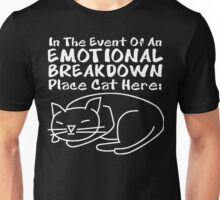 Emotional Breakdown Place Cat Here Unisex T-Shirt
