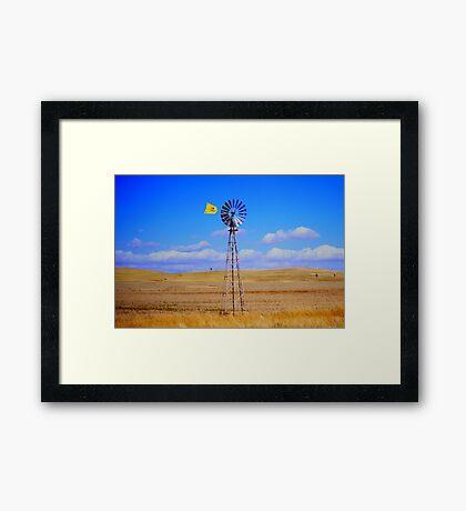 Land, sky and wind Framed Print