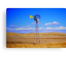 Land, sky and wind Canvas Print