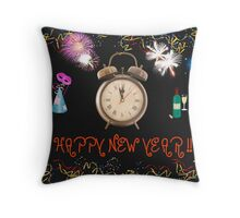 Happy New Year Card Throw Pillow