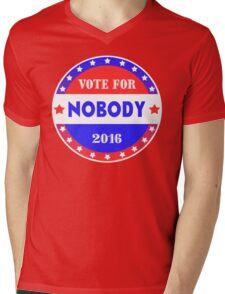 Vote for NOBODY 2016 Mens V-Neck T-Shirt