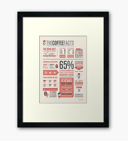 THE COFFEE FACTS – Infographic Poster Framed Print
