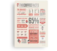 THE COFFEE FACTS – Infographic Poster Metal Print