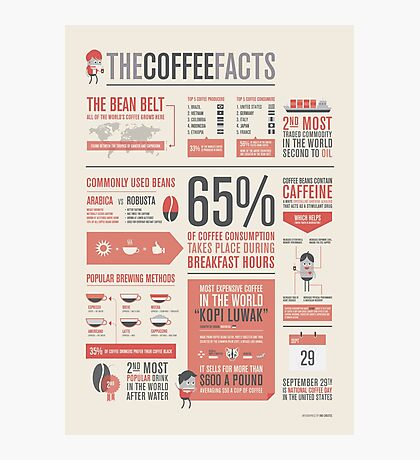 THE COFFEE FACTS – Infographic Poster Photographic Print