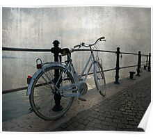 Bicicle on the lake Poster