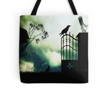 Watching the birds fly south for winter Tote Bag