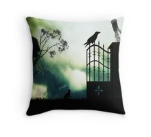 Watching the birds fly south for winter Throw Pillow