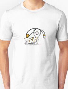Spotty Puppy running Unisex T-Shirt