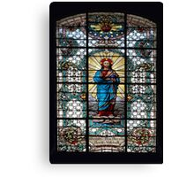Votive Stained Glass Window Canvas Print