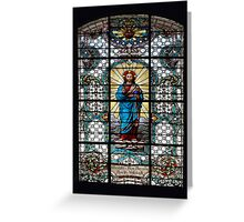 Votive Stained Glass Window Greeting Card