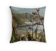 West Coast North Island Throw Pillow