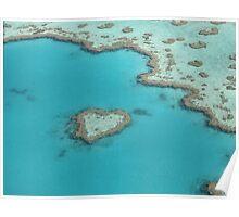 Heart Reef - Whitsundays Poster