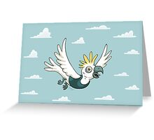 Sulphur Crested Cockatoo in a singlet Greeting Card
