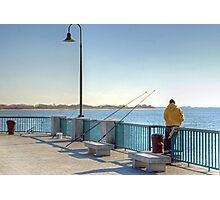 Fishing in the cold Photographic Print
