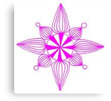 simple star neon pink Canvas Print