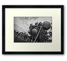 Donnybrook in Black and White Framed Print