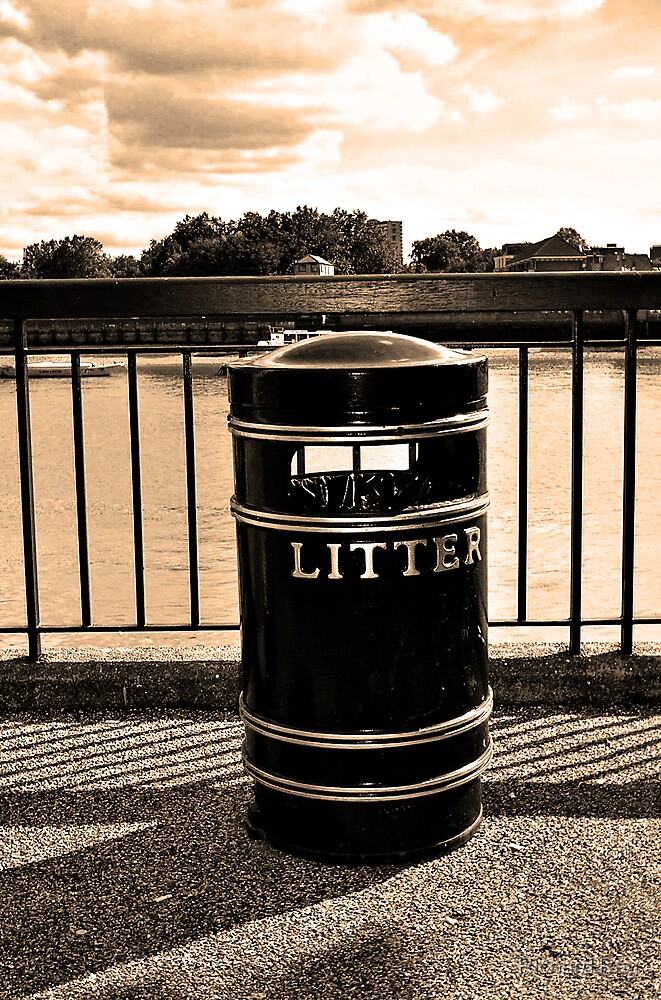 Keeping the Thames clean! (Print A) by Richard Ray