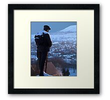Clitheroe Soldier Framed Print