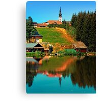A village in the mirror Canvas Print