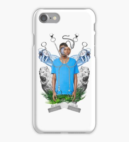 Blue tshirt iPhone Case/Skin