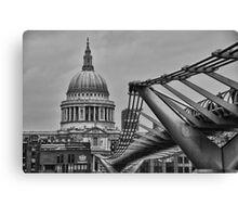 St Paul's Cathedral and Millennium Bridge Canvas Print