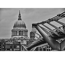 St Paul's Cathedral and Millennium Bridge Photographic Print