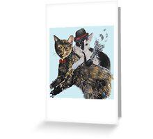 Gangsta Cats Greeting Card