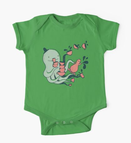 Tea and Tentacles One Piece - Short Sleeve