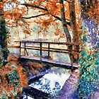 Autumn Bridge in pastel by Julien Menet