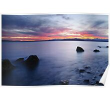 End of day at Alki Beach Poster