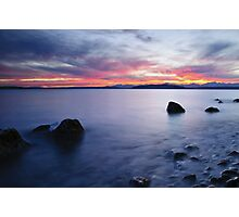 End of day at Alki Beach Photographic Print