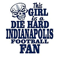 this girl is a die hard Indianapolis football fan Photographic Print