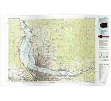 USGS Topo Map Washington Vancouver 244455 1979 100000 Poster