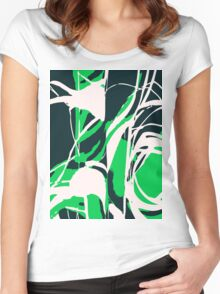 Abstract Splash Women's Fitted Scoop T-Shirt