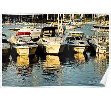 Boats on Vacation Poster
