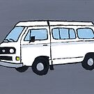 White VW Camper by vschmidt