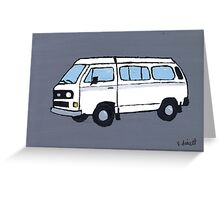 White VW Camper Greeting Card