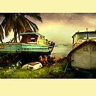 Old Fishing Boats at Six Mens Bay by Tarrby