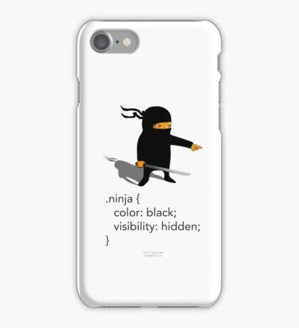 Geek Tee - CSS Jokes - Ninja iPhone Case/Skin