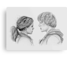 Ron and Hermione Metal Print
